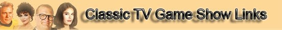 ClassicTV Game Show Links banner