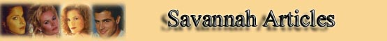 Savannah Cast Articles banner