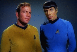 Kirk and Spock animation
