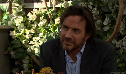 Ridge gives his doctor the evil eye.