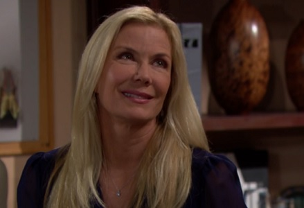 Brooke chats with Thomas about Ridge and Caroline