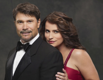 Peter Reckell and Crystal Chappell