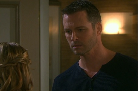 Theresa tells Brady something he's not too happy about.