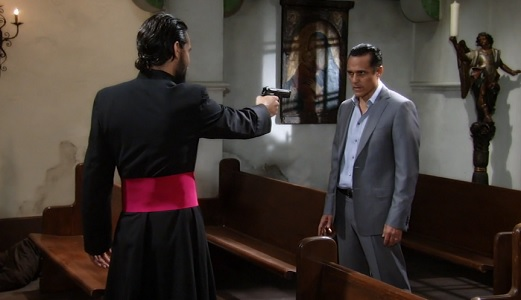 Carlos tries to shoot Sonny.