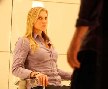 Dana (Katee Scakhoff) prepares to be questioned by Jack