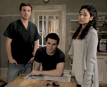 Stars of Being Human - Sam Witwer, Sam Huntington and Meaghan Rath