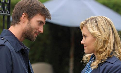 Lucas Bryant and Emily Rose