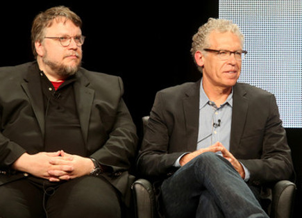 "Guillermo del Toro and  Carlton Cuse of ""The Strain"""