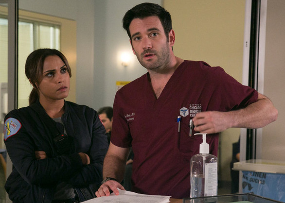 "Colin Donnell from ""Chicago Med"" (with Monica Raymond from ""Chicago Fire"")"