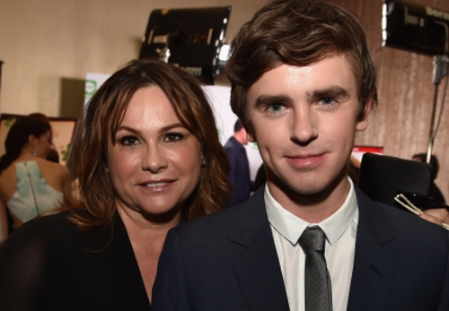 Freddie Highmore and Kerry Ehrin