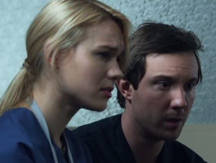 Sam Huntington and Kristen Hager as Nora and Josh