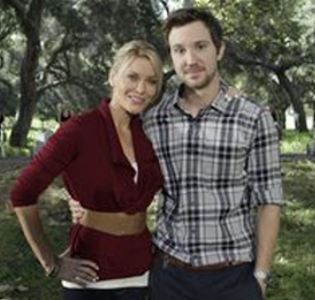 Sam Huntington with series star Westmore
