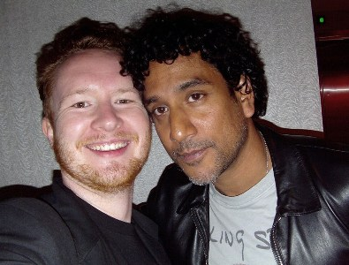 Jake with Naveen Andrews