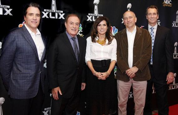 Al Michaels, Cris Collinsworth, Michele Tafoya and Fred Gaudelli