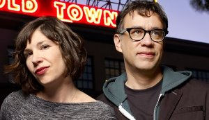 "Fred Armisen and Carrie Brownstein, guest-stars on ""The Simpsons"""