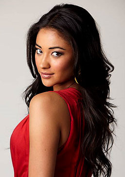 Shay Mitchell in red
