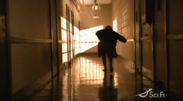 Kara escapeing from Hospital in 'The Farm'