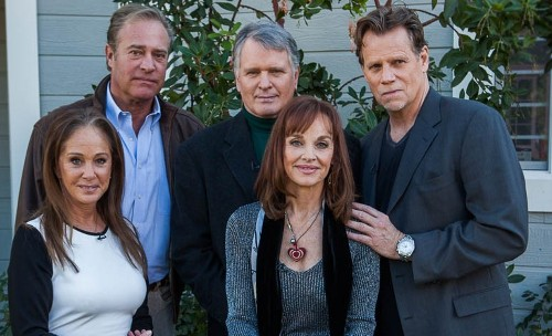Dynasty reunion of sorts: John James, Gordon Thomson, Al Corley, Pamela Bellwood and Pamela Sue Martin