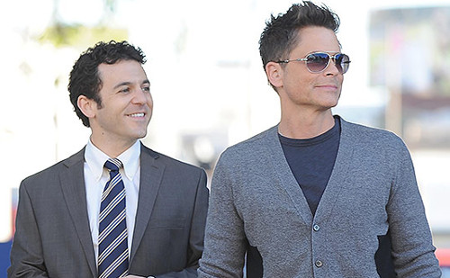 Fred Savage and Rob Lowe