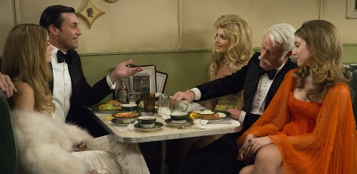Mad Men's Don and Roger with ladies