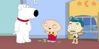 Brian, Stewie and robot