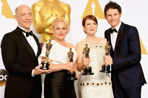 Oscar winners Simmons, Arquette, Moore and Redmayne