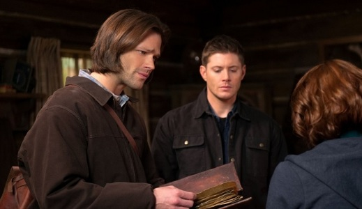 "Sam, Dean and Charlie in ""Book of the Damned"""