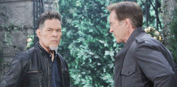 A Martinez as Eduardo and Drake Hogestyn as John