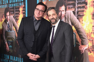 Judd Apatow and Bob Saget at premiere of doc