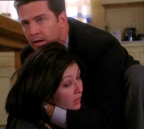 "Andy and Prue in ""The Power of Two"""