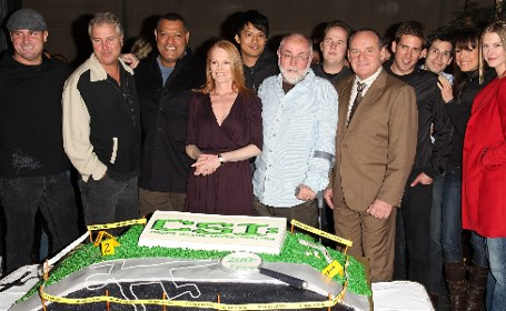 CSI cast with cake