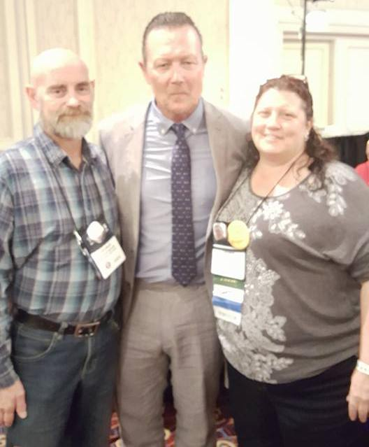 Pat and Laurie with Robert Patrick