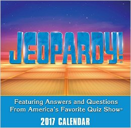 Jeopardy 2017 Day to Day Calendar