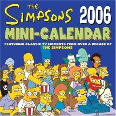 Simpsons 2006 mini-calendar