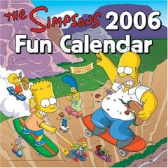 2006 Simpsons fun calendar pic
