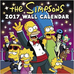 Simpsons Wall Calendar 2017