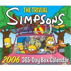 Trivial Simpsons 2006 box calendar pic
