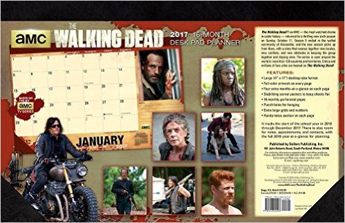 The Walking Dead® AMC 2017 Desk Pad Planner Calendar