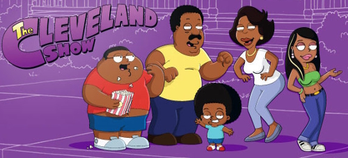 Cleveland Show cast and logo