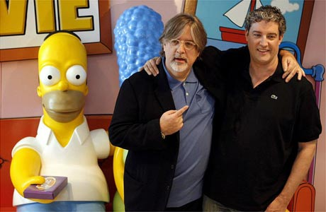 Homer Simpson, Matt Groening and Al Jean
