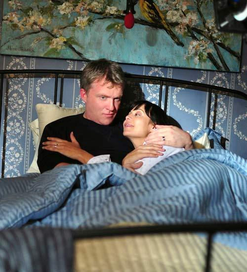 Catherine Bell and Anthony Michael Hall