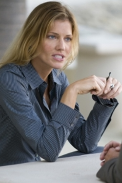 "Tricia Helfer on ""Burn Notice"""