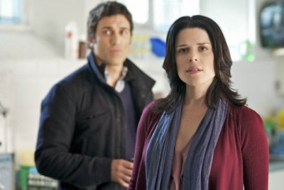 Neve Campbell and Noam Jenkins