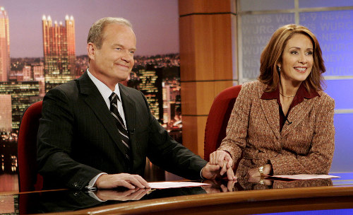Grammer and Heaton at their anchor desk