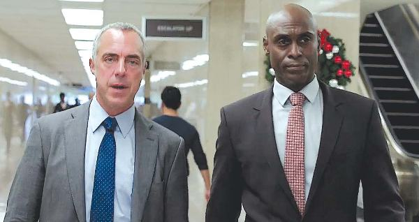 Titus Welliver as Harry Bosch and Lance Reddick as Irvin Irving