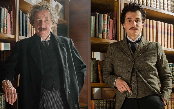 Geoffrey Rush and Johnny Flynn as Albert Einstein