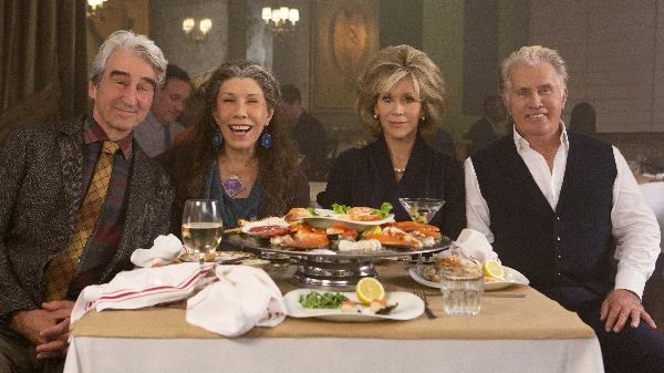 Sam Waterston, Lily Tomlin, Jane Fonda and Martin Sheen