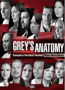 Grey's Anatomy: The Complete Seventh Season DVD cover
