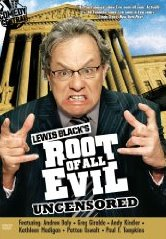 Lewis Black's The Root of All Evil DVD cover season 1