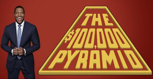 $100,000 Pyramid host and logo